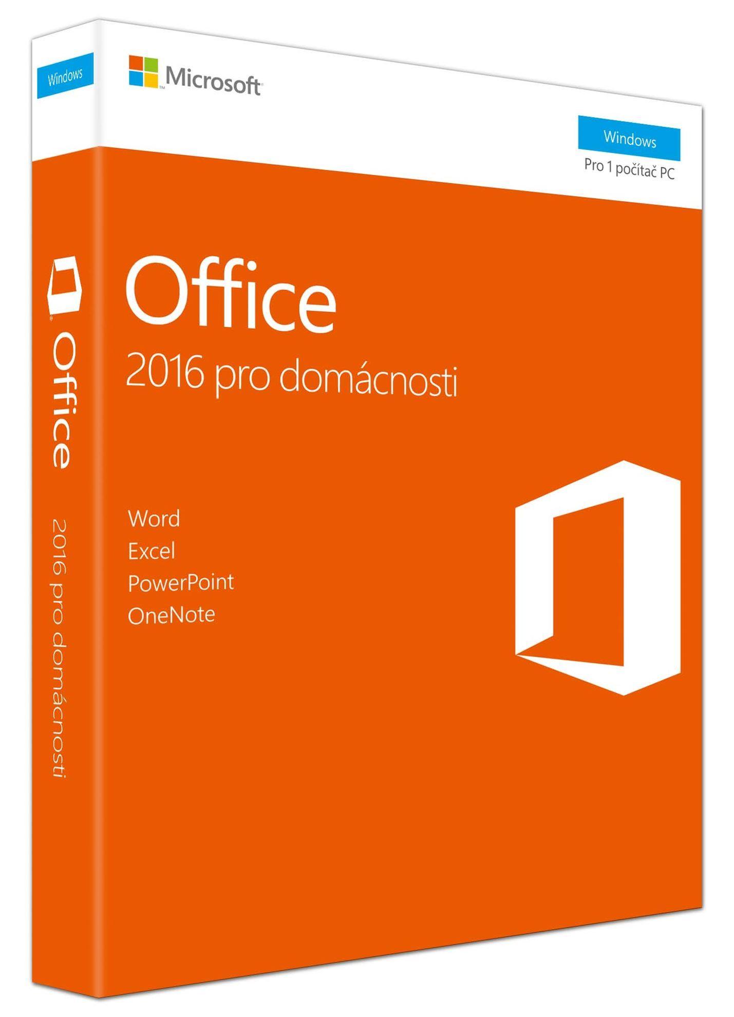Microsoft Office 2016 pro studenty a domácnosti Win CZ, 79G-04723