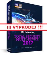 Obrázek Bitdefender Total Security Multi-Device 2017, 1 zařízení, 12 měsíců, elektronicky