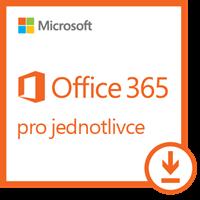 Obrázek Microsoft Office 365 pro jednotlivce, 1 rok, elektronicky