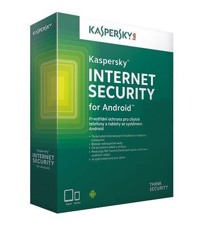 Kaspersky Internet Security pro Android CZ, 1 mobil nebo tablet, 1 rok, obnovení licence, elektronicky, KL1091XCAFR